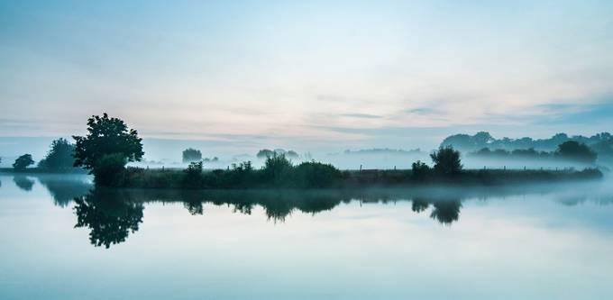 misty morning in Flanders