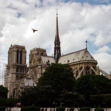 Flying over Notre Dame
