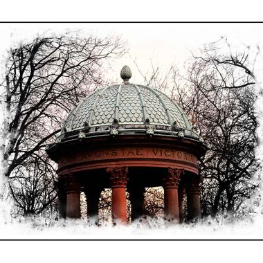A domed roof in the gardens at Bad Homberg.