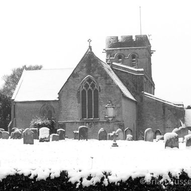 This is my local church taken on a rare occasion of snow.