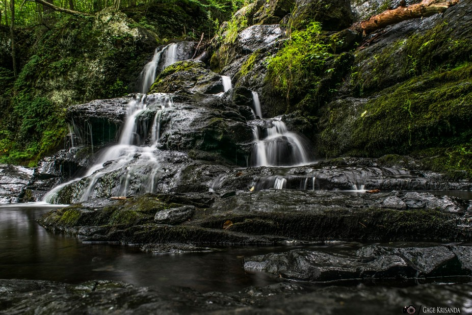 Climbed Halfway up this particular set of falls located in Pa with my camera and tripod. With som...