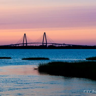 Sunset on Pitt Street Bridge, Mount Pleasant, South Carolina. This is pre hurricane Irma