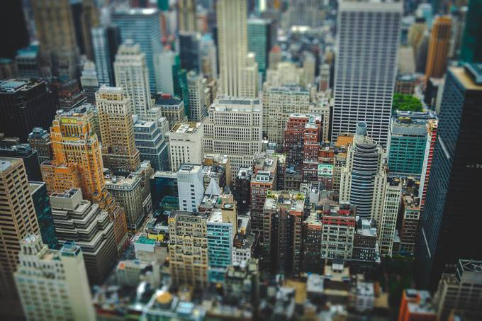 A view from the top of the Rock by willbarnwell - TiltShift Effect Photo Contest