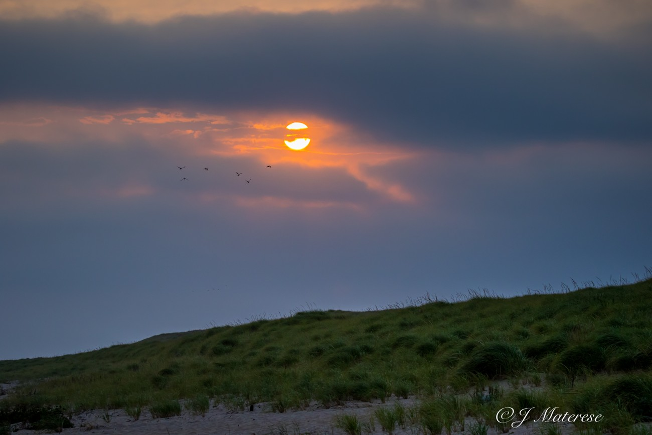 Race Point Sunrise With Threatening Clouds