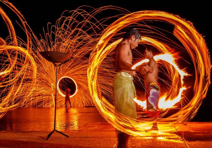 Fire Dance by gerdiehutomo - Composing With Circles Photo Contest
