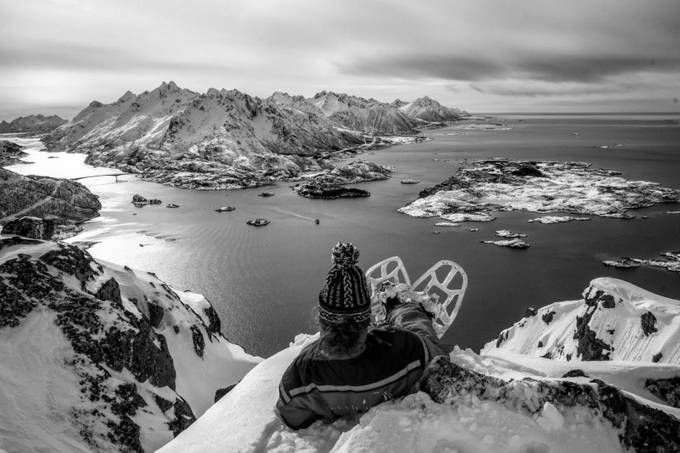 Hiking, northern Norway by ingvildmelkersen - Everything In Black And White Photo Contest