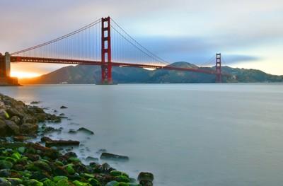 Sunset & Golden gate bridge