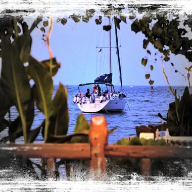 Sailing boat at Kerveli Bay, Samos