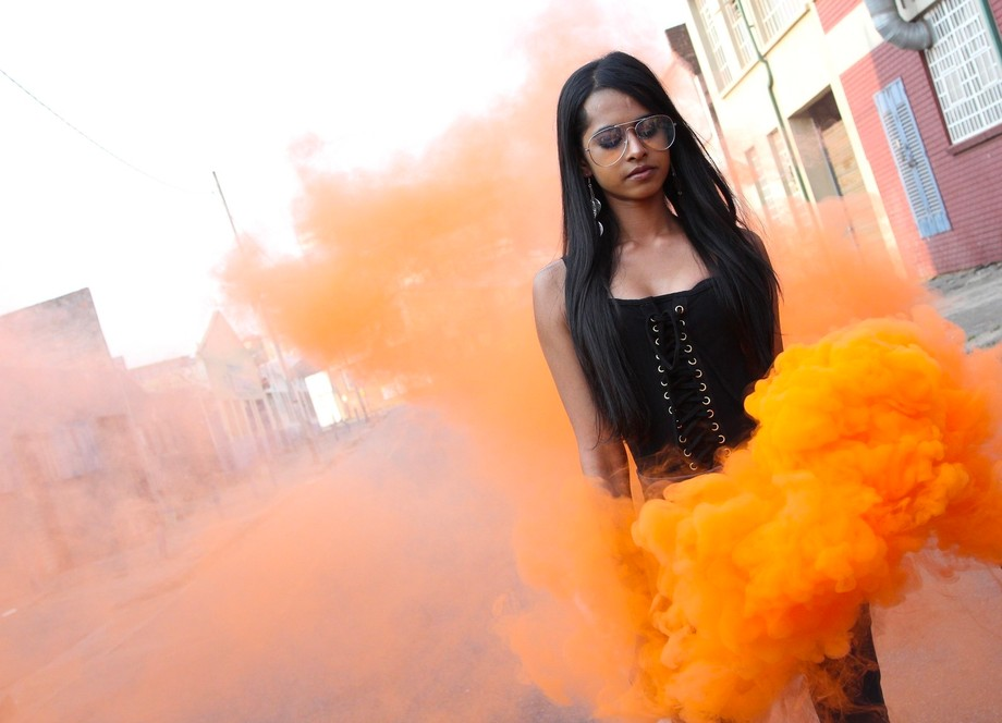 I've seen so many photos with smoke bombs and finally got the chance to take a photo...