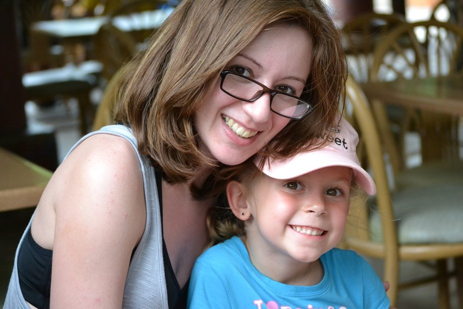 This my daughter-in-law and my granddaughter at Disney World. (they are not mother and daughter)