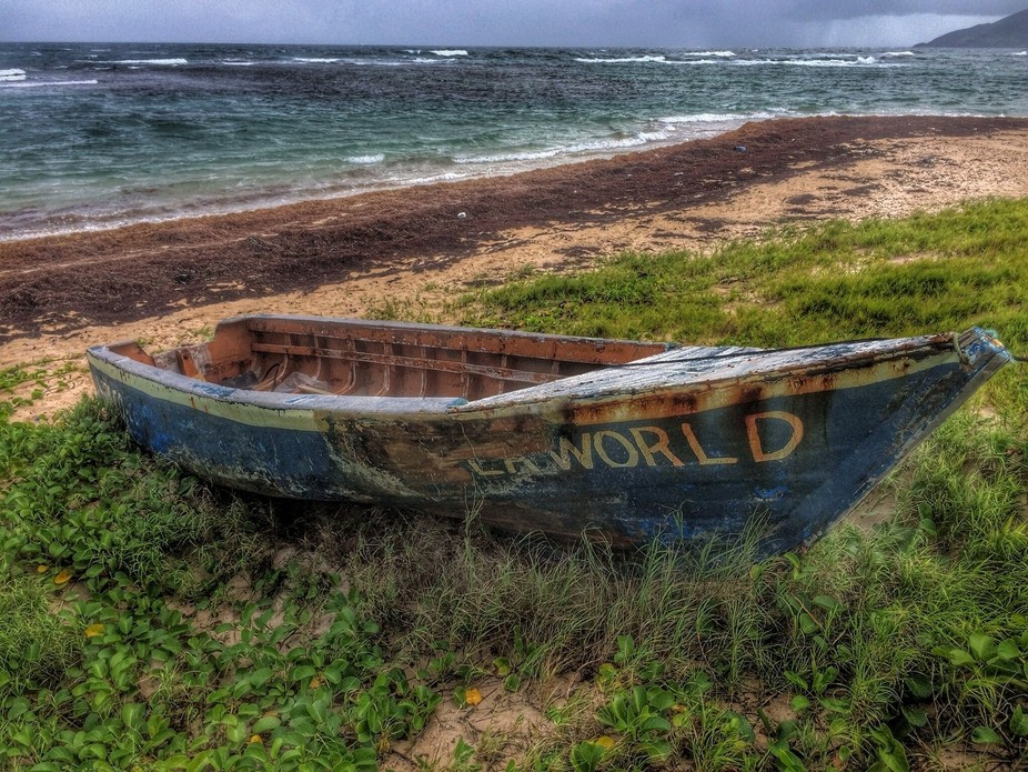 boat on St. Kitts