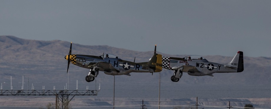 historical military planes taking off