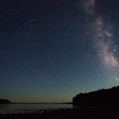 Milky Way over Otter Cove in Acadia National Park
