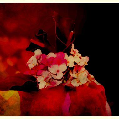 Manipulated flower arrangement.