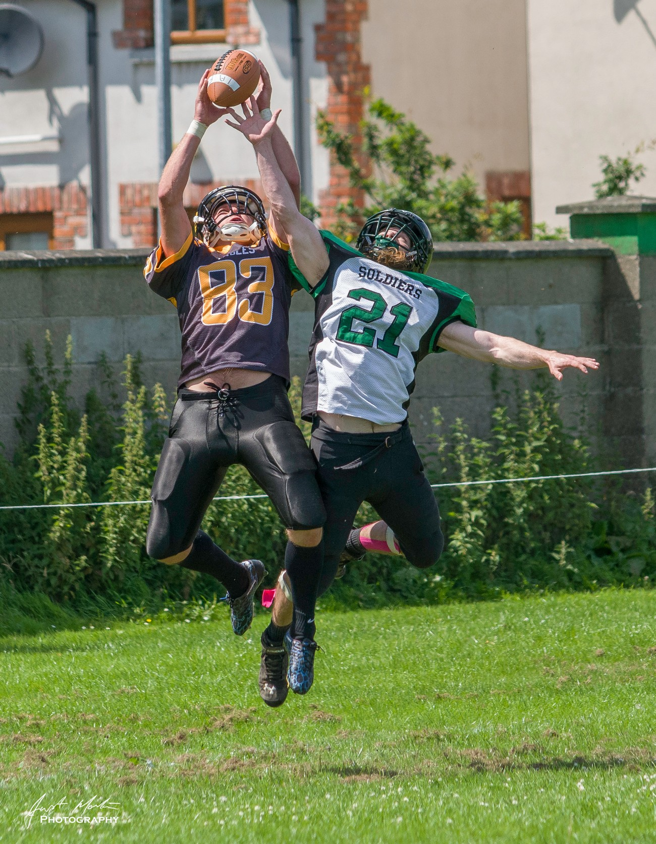 Local American Football team in action