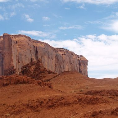 One of the wind sculpted rock formation from Monument Valley