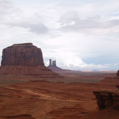 This is one of the look outs at Monument valley
