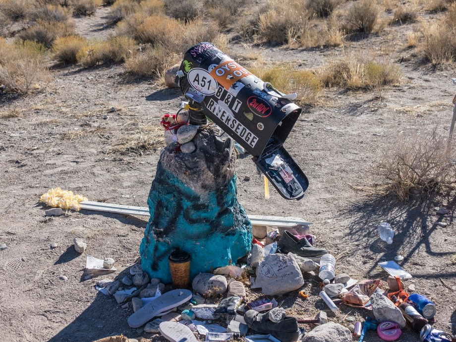infamous black mailbox at Area 51