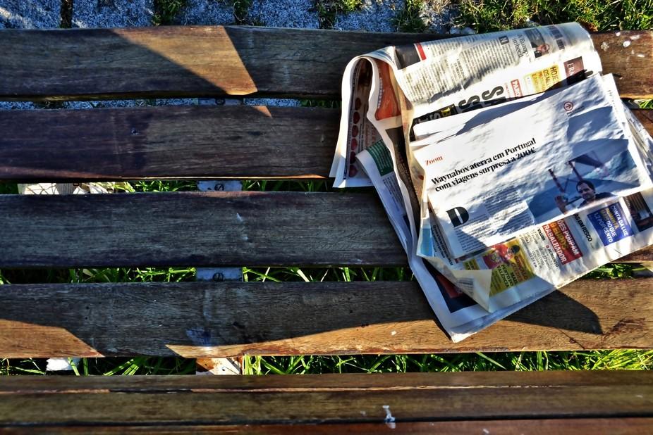 paper in garden