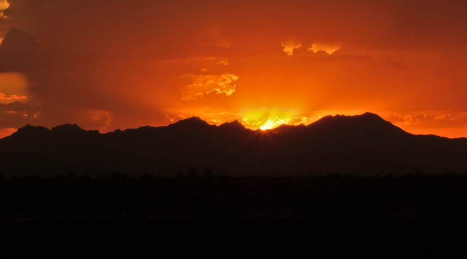 After a day of monsoon, this is how it ends