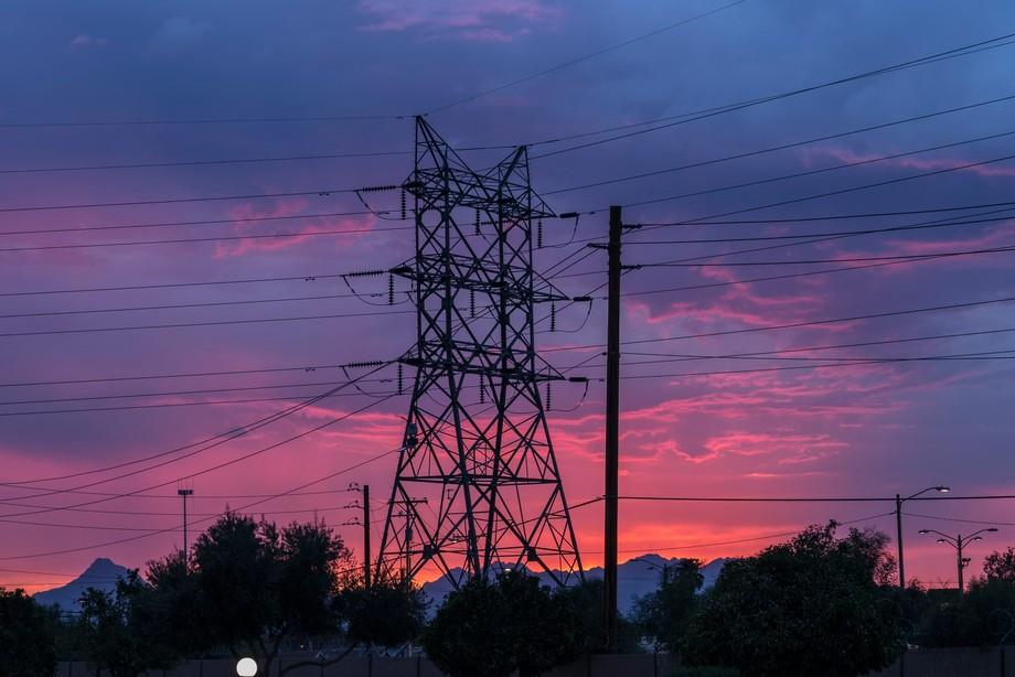 sunsets even look good behind tech