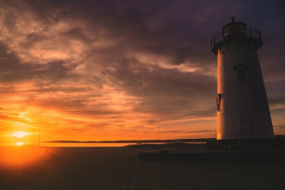 Taken at the lighthouse in Edgartown, Martha's vineyard at sunrise