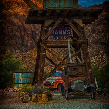 Eldorado Canyon in Nelson Nv. An old mining town. Old building, old planes and old vehicles. Great place to visit.