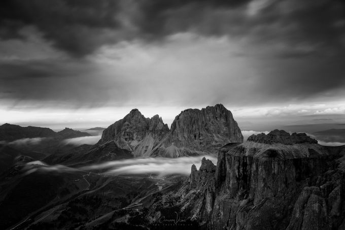 Black and White Mountain Peaks Photo Contest Winner