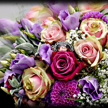 Beautiful wedding bouquet of flowers.