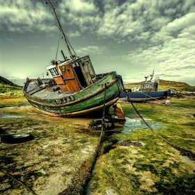 Old fishing boats, Donegal