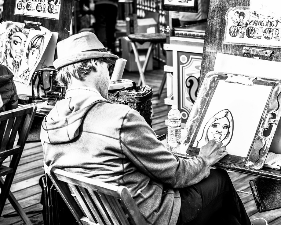 Artist at Fisherman's Wharf in San Francisco