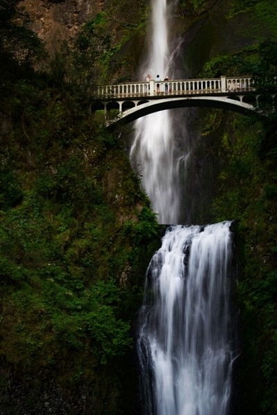 The iconic Multnomah Falls