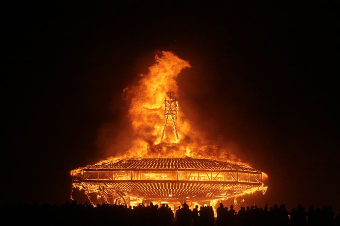 Burning Man Structure - 2013 by Lovesphoto - Shooting Fire Photo Contest