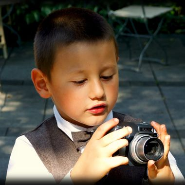 A budding photographer in the making.