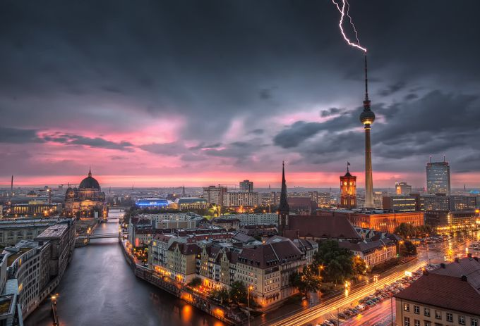 Thunderstorm at Alexanderplatz by NicoTrinkhaus - Long Exposure Experiments Photo Contest