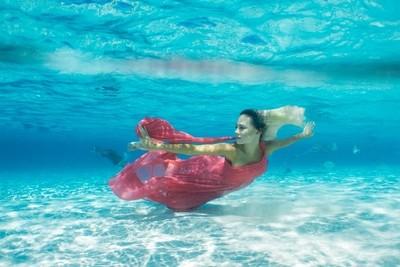 Underwater Red Dress