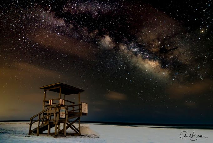 Milky Way Lifeguard Tower by GBinFWB - Capture The Milky Way Photo Contest