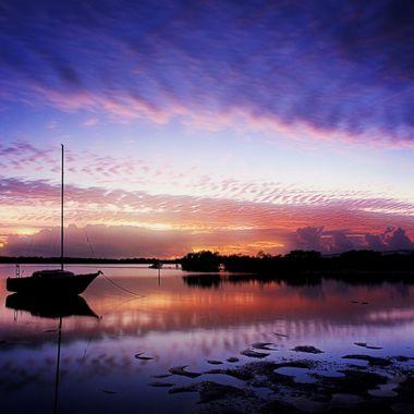 Morning, glorious morning, at Tin Can Bay, Australia