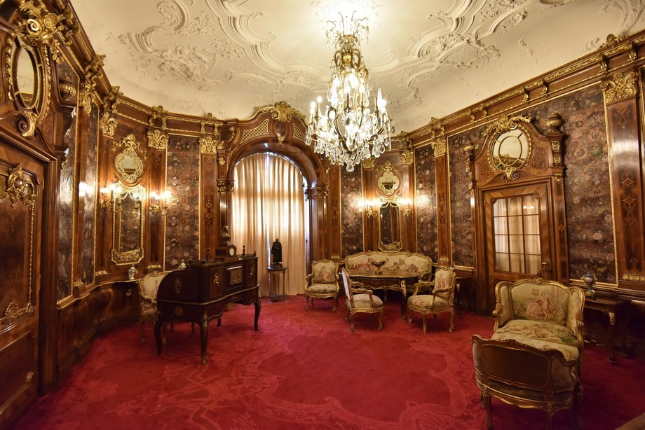 King of Romania's office in Peles Castle.