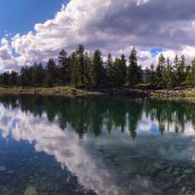 Charey Lake in La Magdeleine, Valle d'Aosta (Italy)