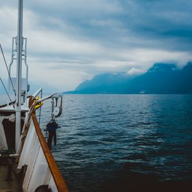 Sailing Lake Geneva, right after a storm.