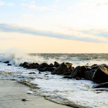 Folly Beach, Charleston, South Carolina on the Morris Island side of the beach.