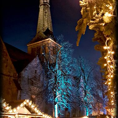 The town of Hameln Xmas time.