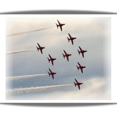Red Arrows at Blackpool.