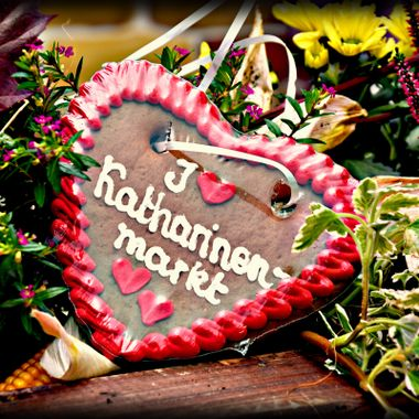 Heart shaped Lebkuchen (German bit like a biscuit)