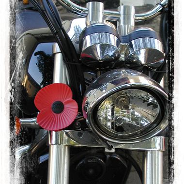 Motor bike from the riders branch of the RBL.