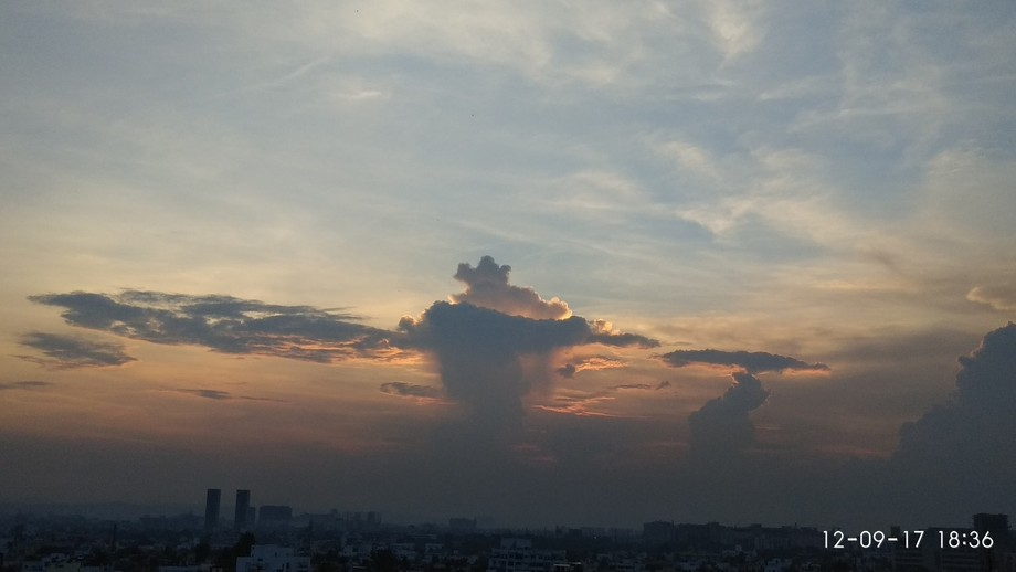 Just a rough image of Indian map formed by the clouds.