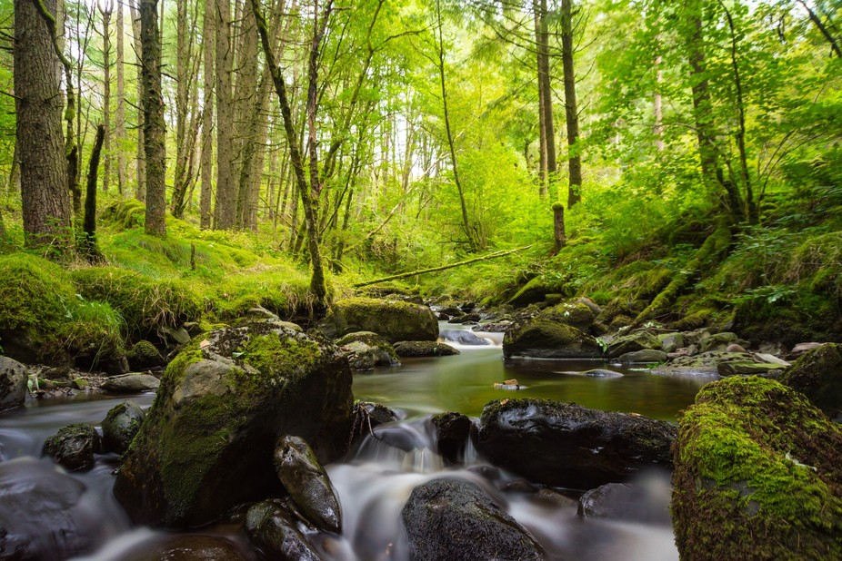 Small stream in Wales wich has a fantastic end