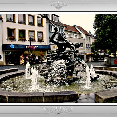 Fountain outside the Paderborn Town Hall.