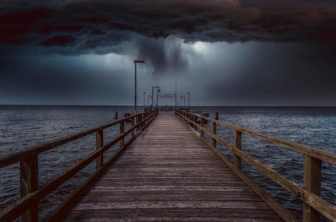 Thunderstorm on the sea by JulesK - Night Wonders Photo Contest